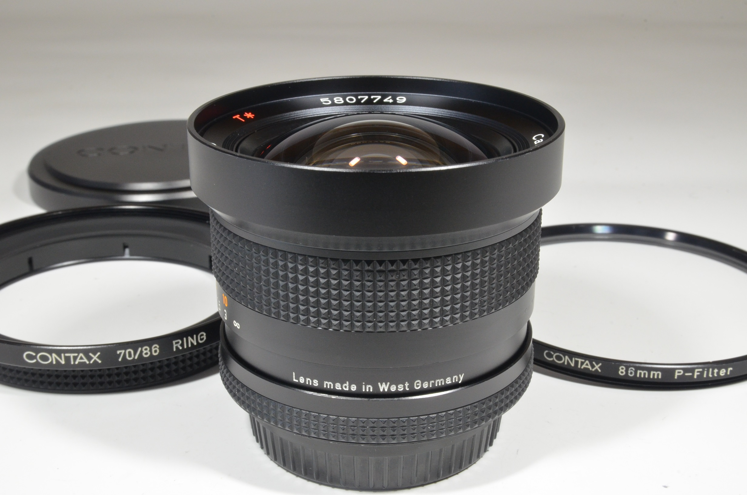 contax carl zeiss distagon t* 18mm f4 aeg made in west germany  rare!