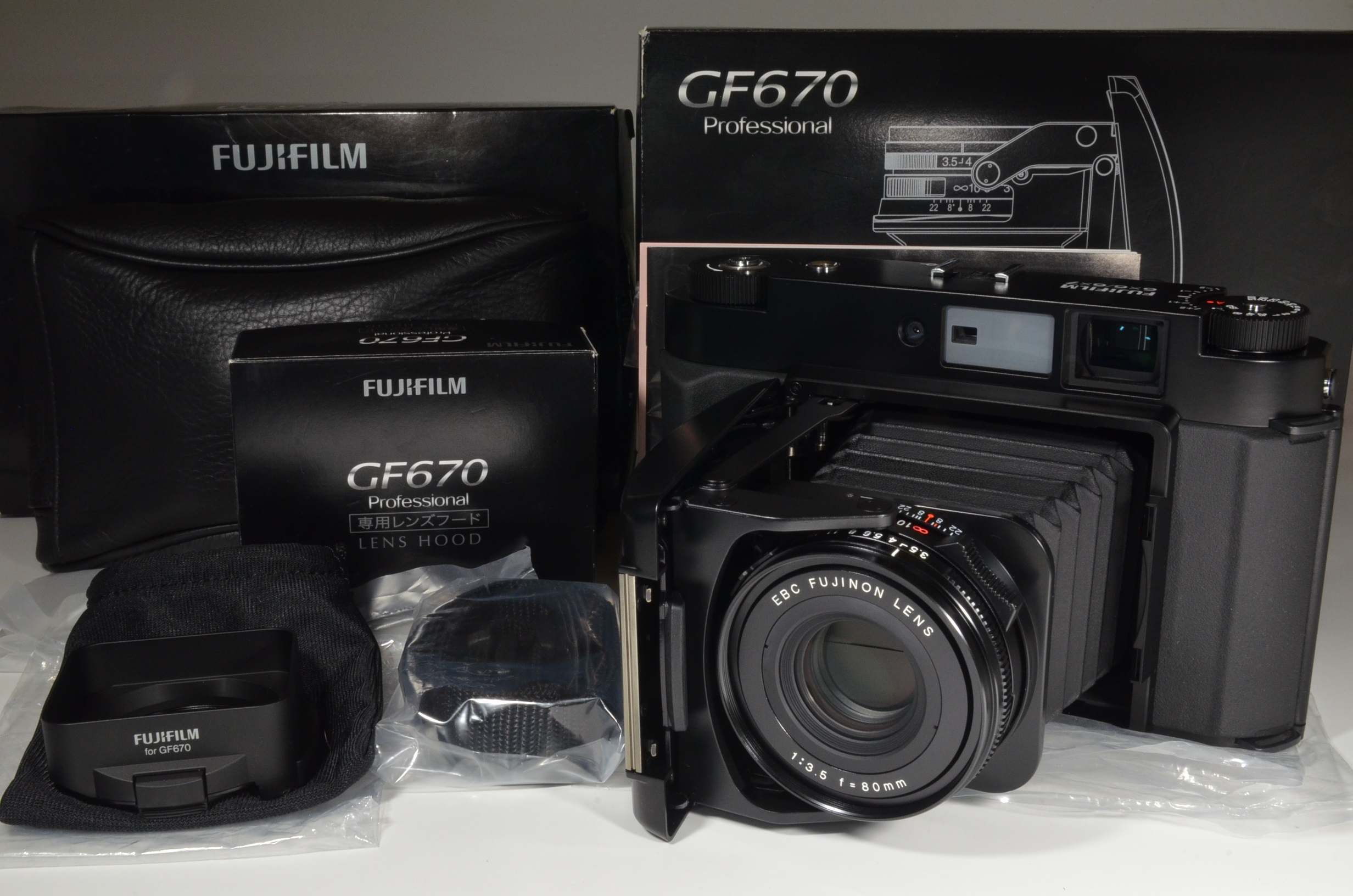 fujifilm gf670 professional black fujinon 80mm f3.5