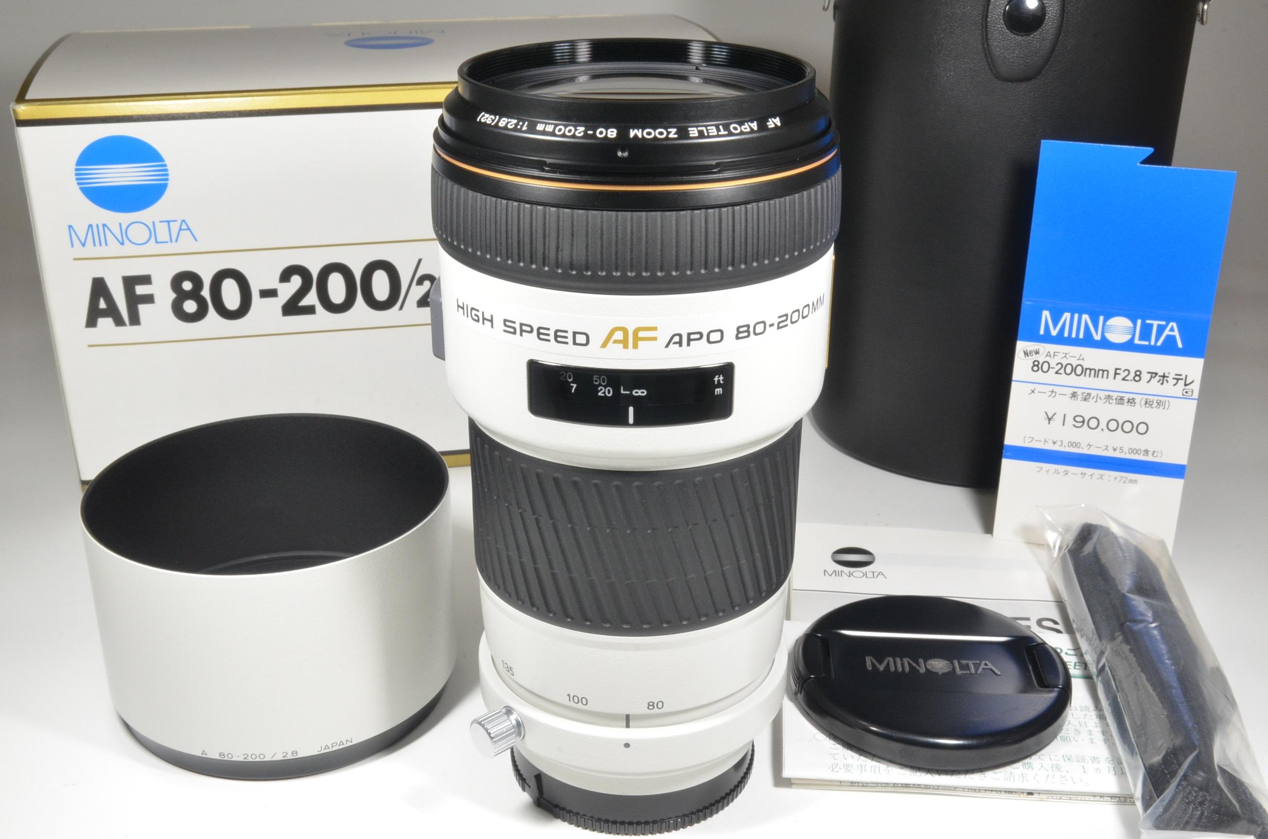 minolta high speed af apo 80-200mm f2.8 g lens sony japan  brand new