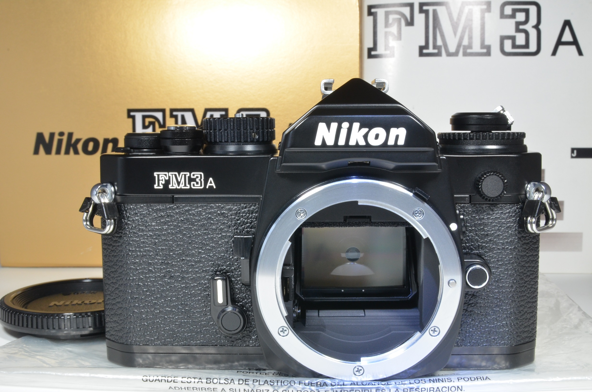 nikon fm3a 35mm film camera black   unused  very rare!