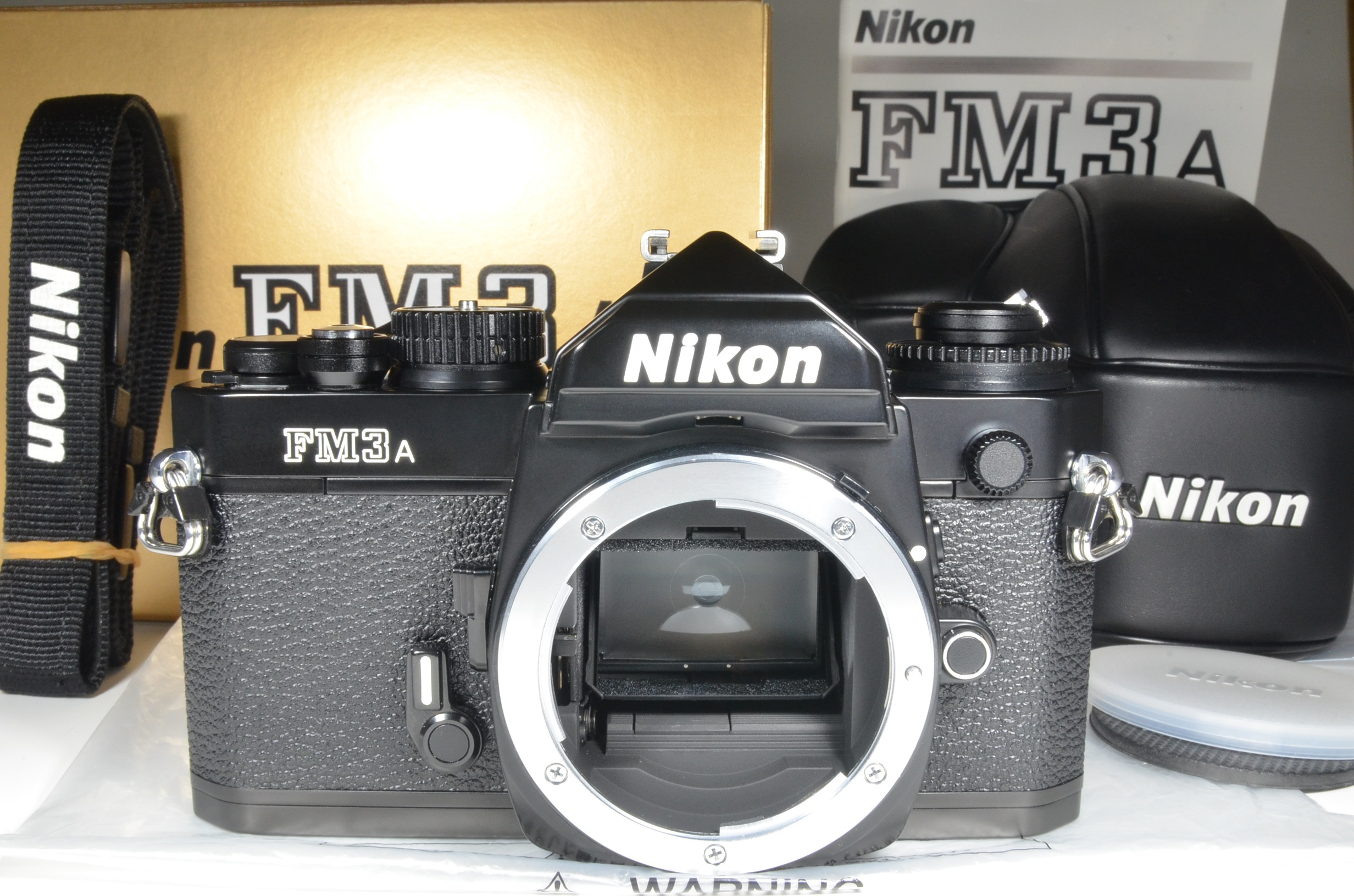 nikon fm3a 35mm film camera black cf-27